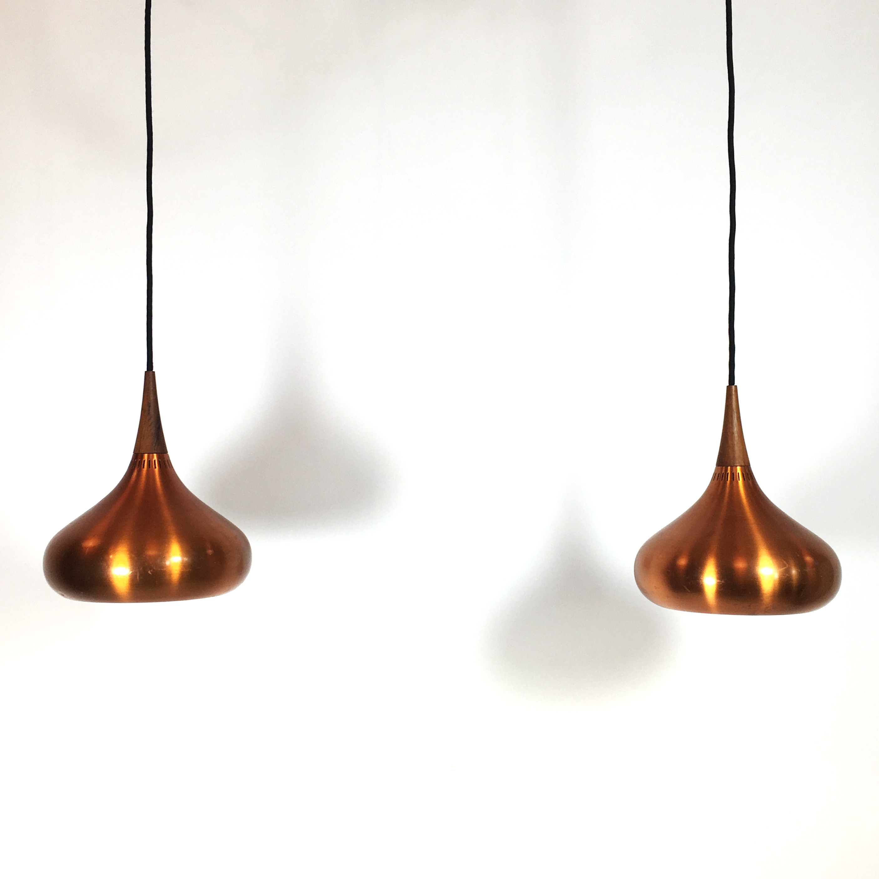 Pair of Orient pendants by Jo Hammerborg.