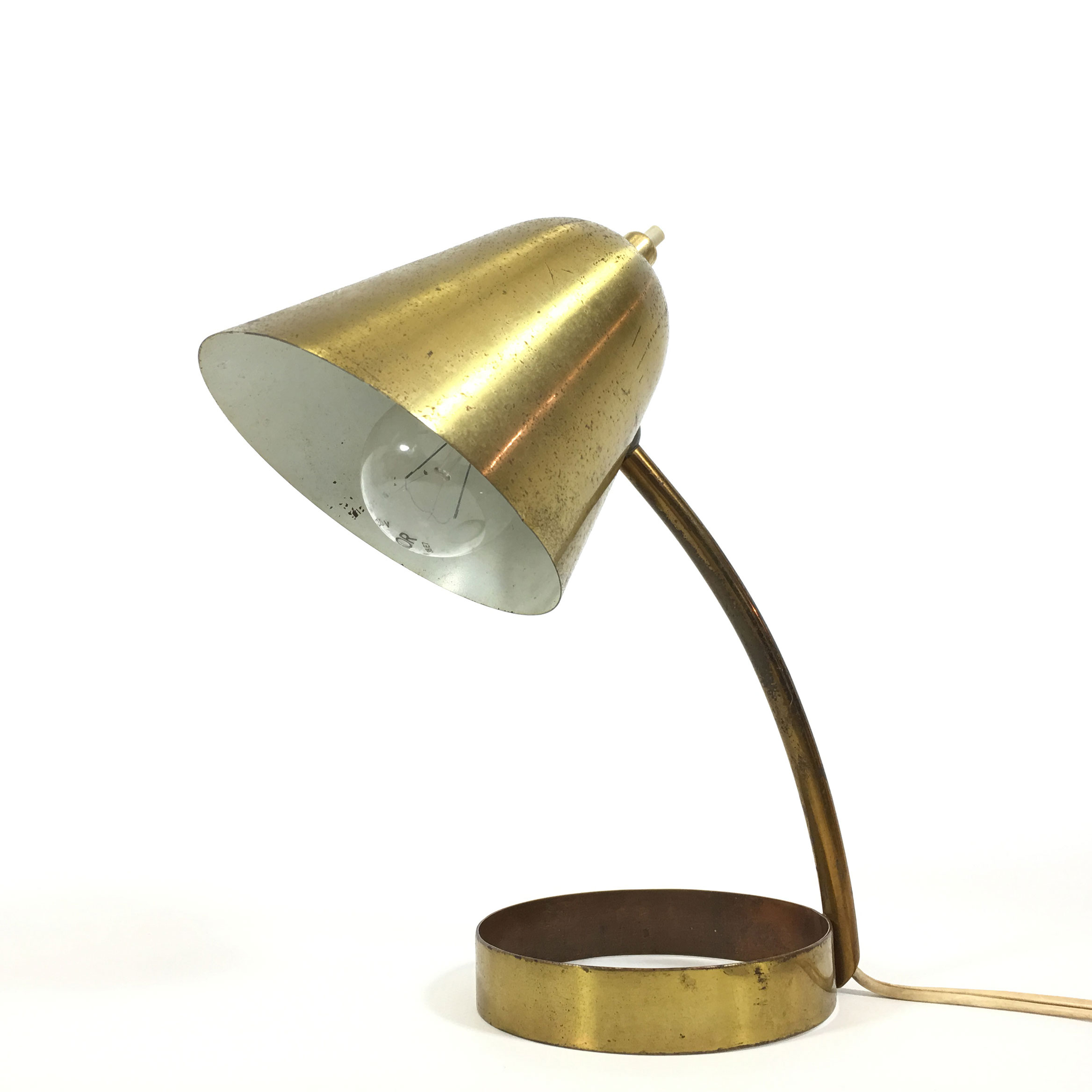 French brass lamp, 1950's.