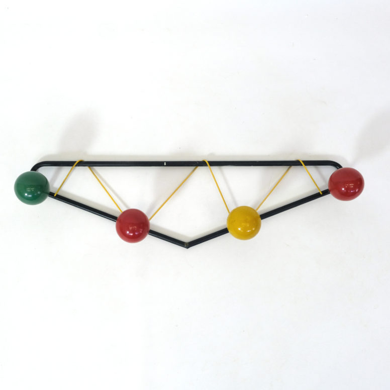 Vintage coat rack produced in the 1960's-1970's.