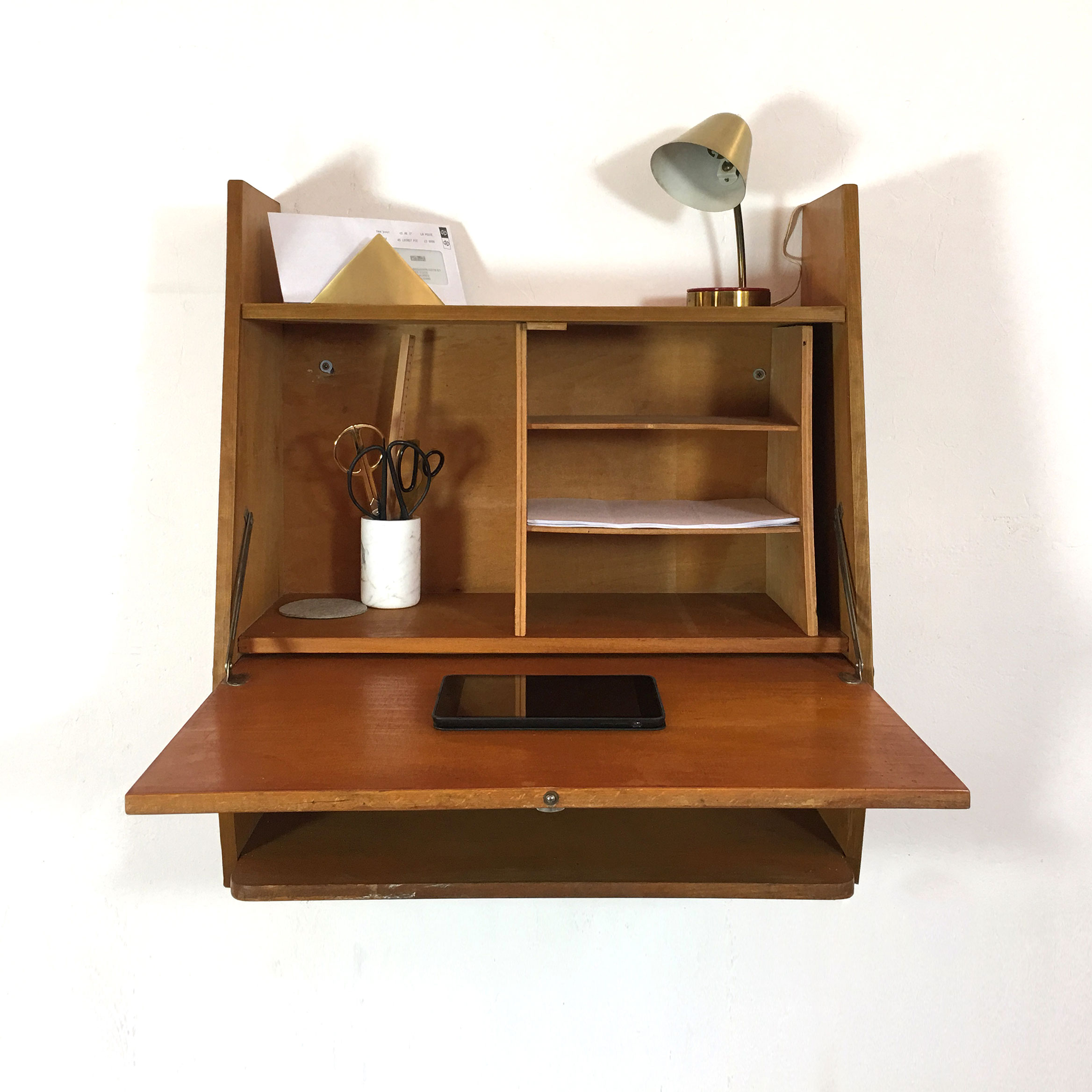Wall mounted desk from the 1950's-1960's.