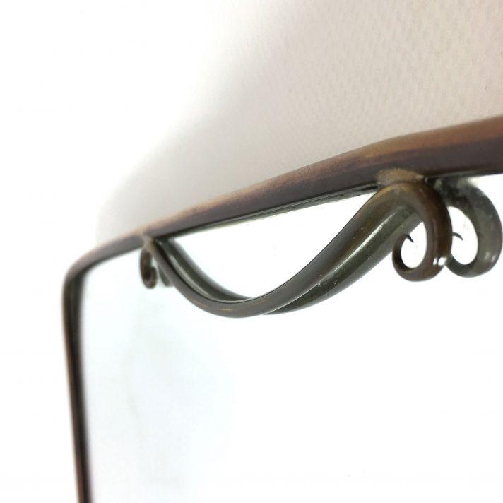 miroir au cadre en laiton italie 1950 s lampandco. Black Bedroom Furniture Sets. Home Design Ideas