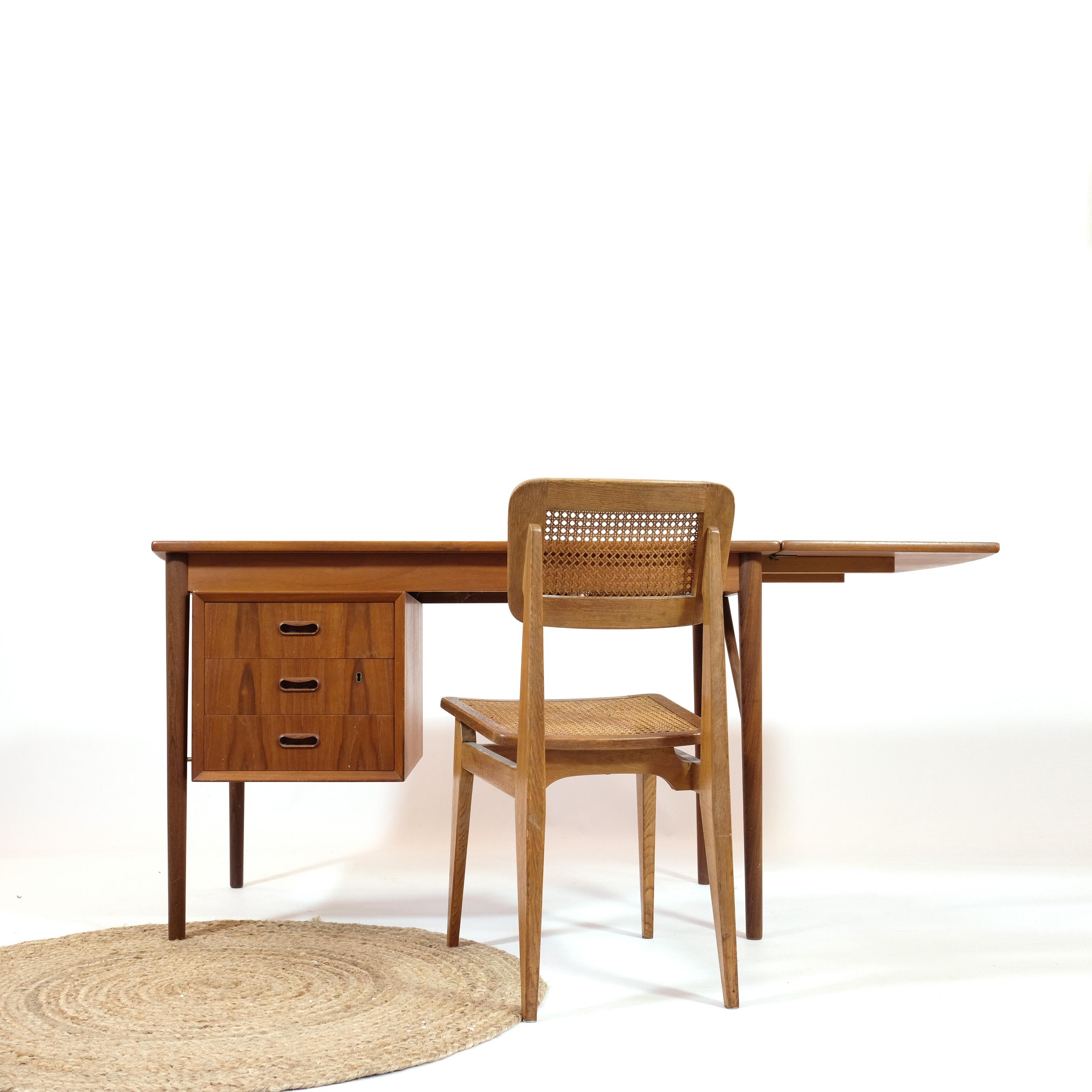 Danish teak desk, 1960's.