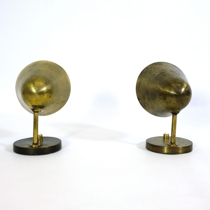 Wall Mounted Brass Lamps : Pair of brass wall mounted lamps from the 1950 s. LampAndCo