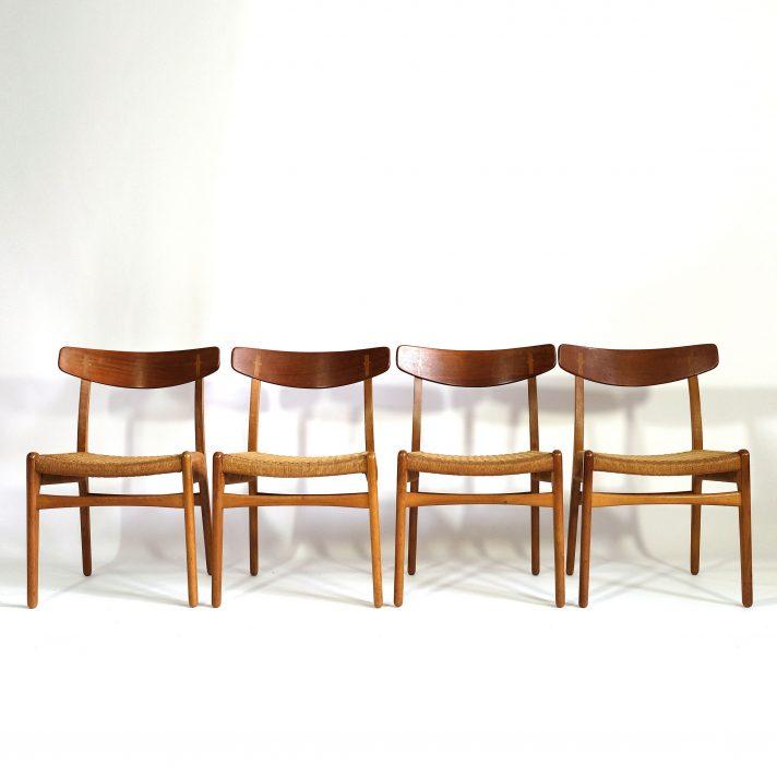 4 chaises CH 23, Hans Wegner