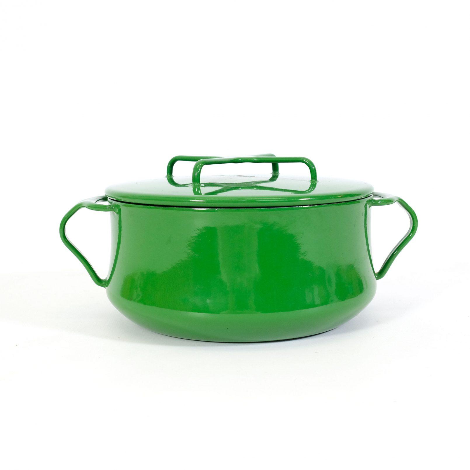 Cocotte Kobenstyle émaillée vert.