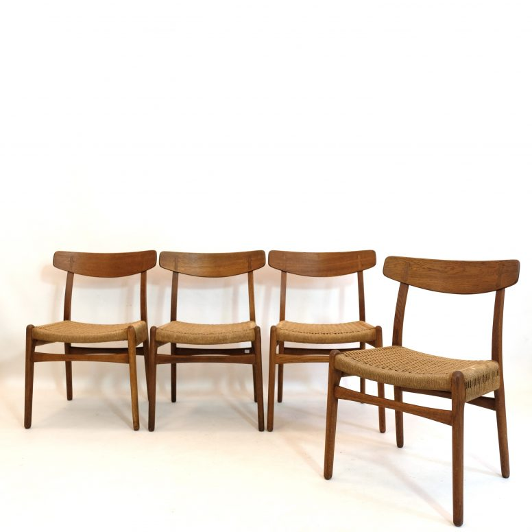 Set of four CH23 chairs, Hans Wegner for Carl Hanson and Son, 1950's.
