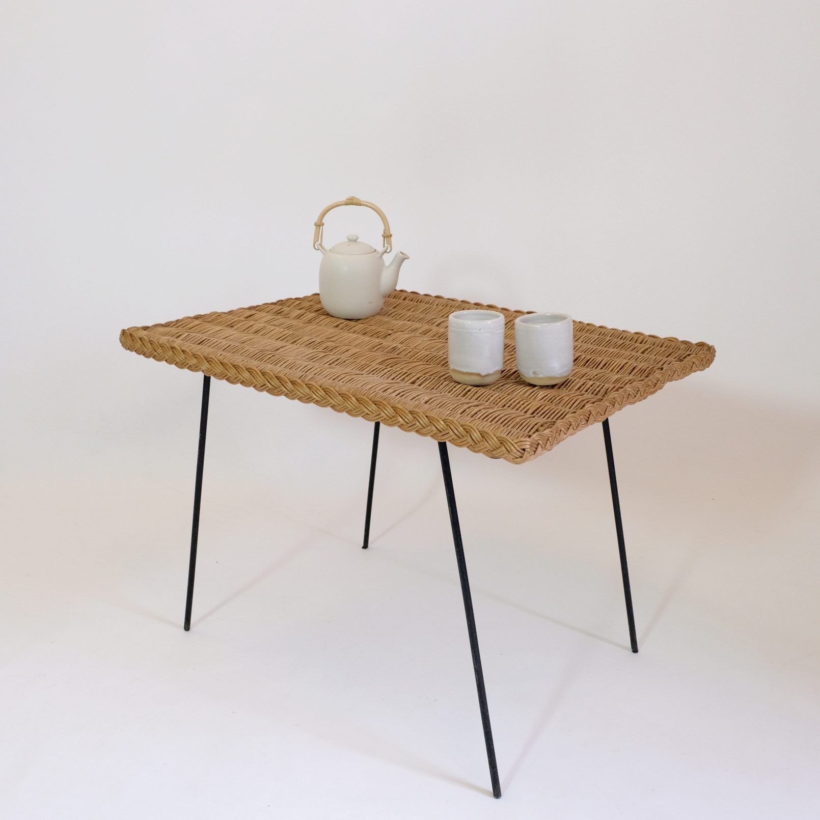 Wicker coffee table from the sixties.
