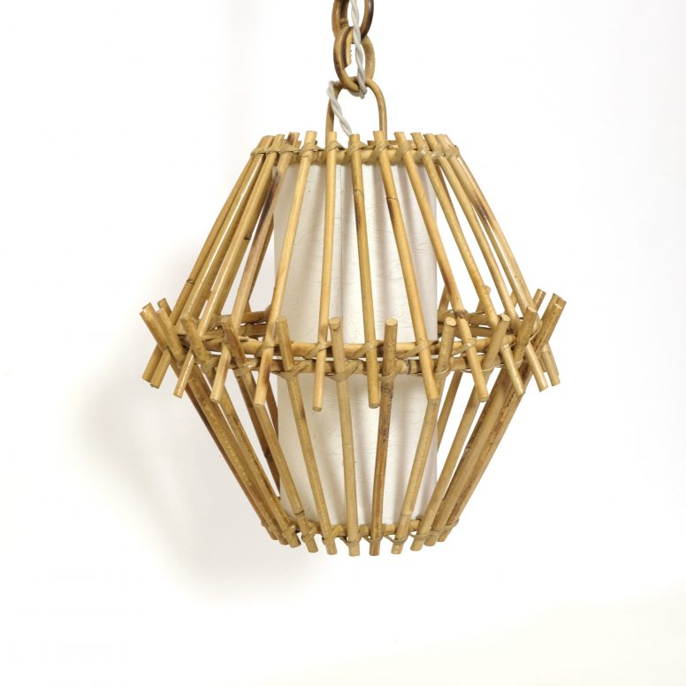 Rattan pendant produced in France in the 1960's-1970's.