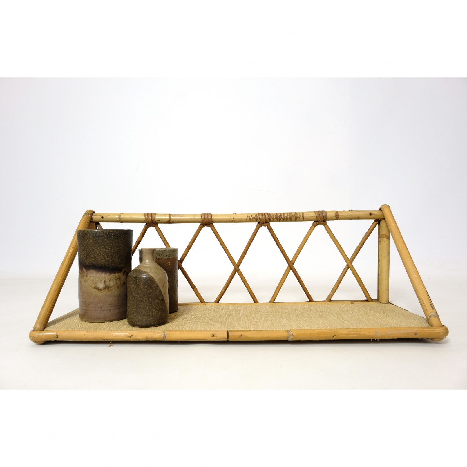 French rattan shelf from the sixties.