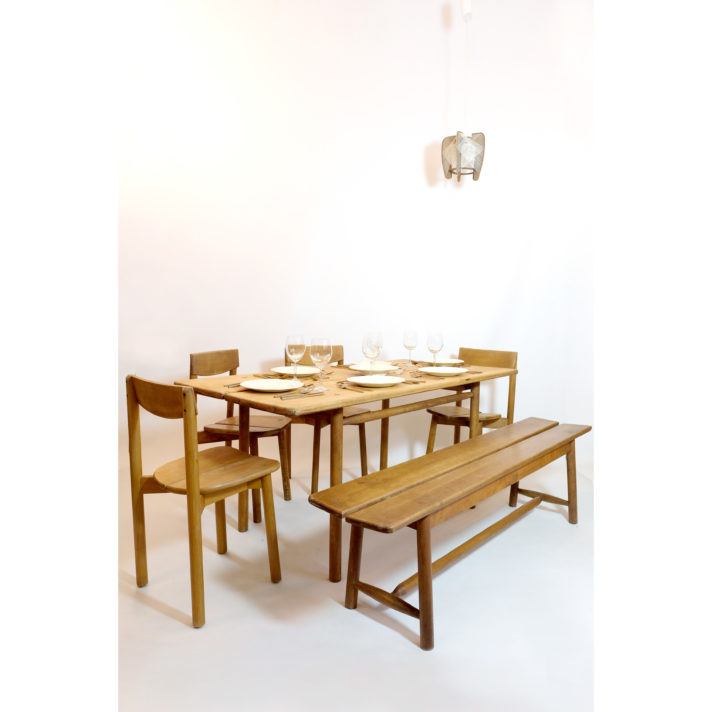 Pierre Gautier Delaye, dining table, France, 1950s.