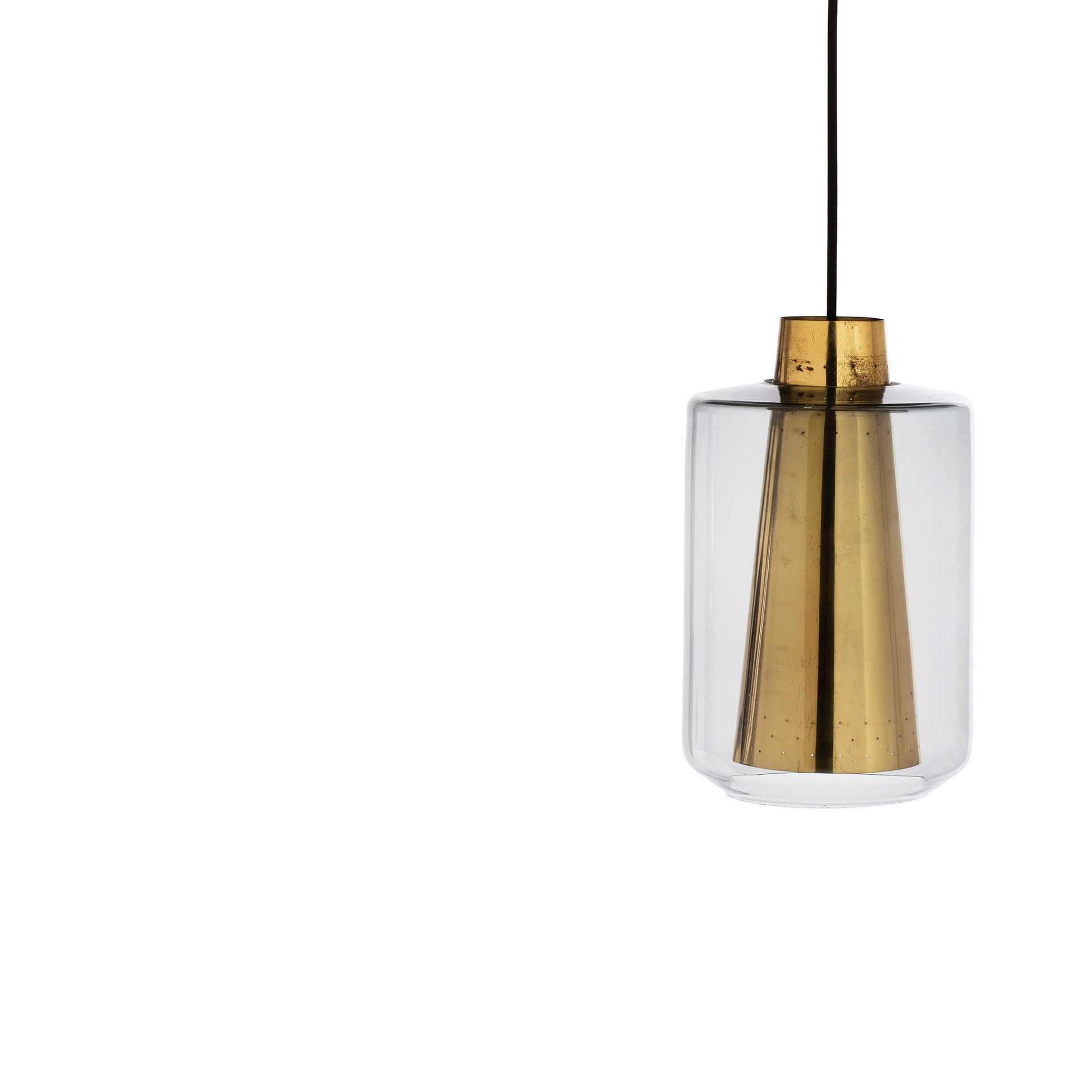suspension en verre et laiton su de 1960 39 s lampandco. Black Bedroom Furniture Sets. Home Design Ideas