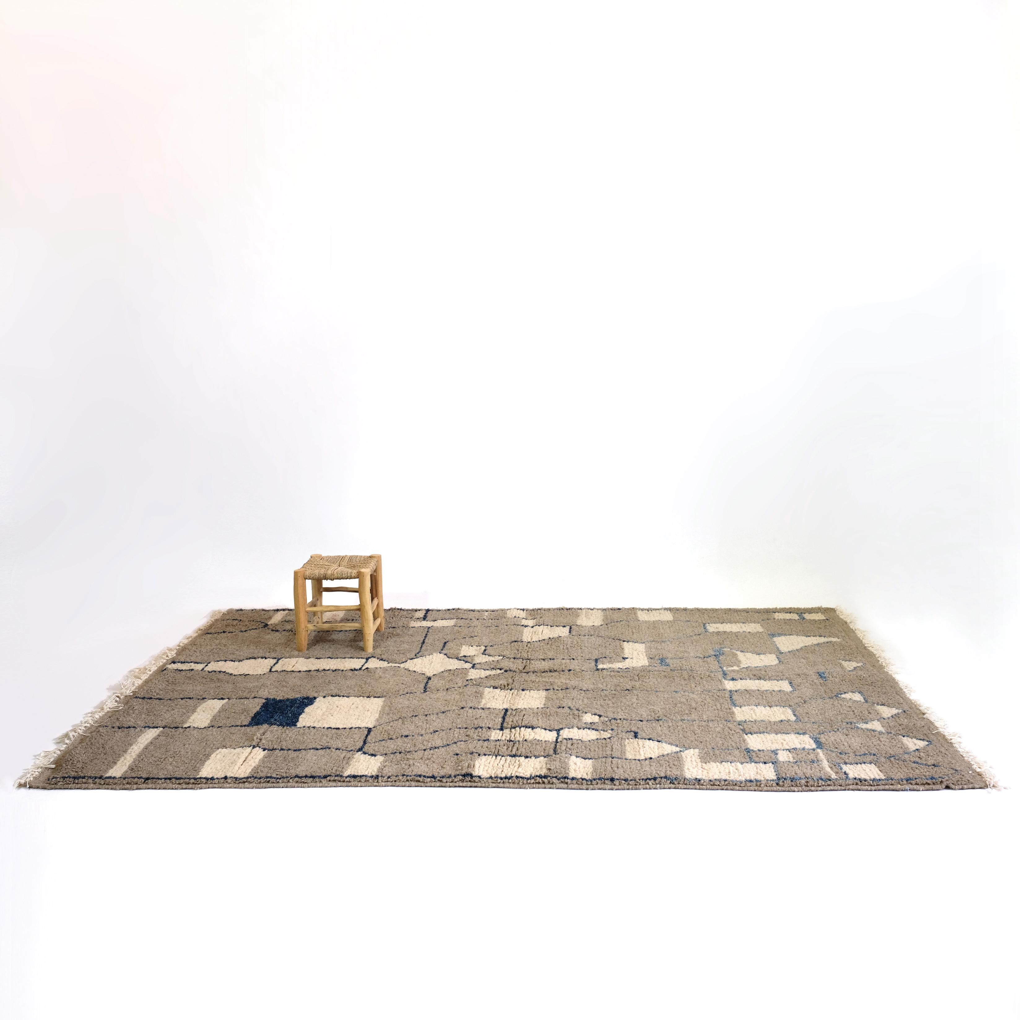 Large grey Berber rug.