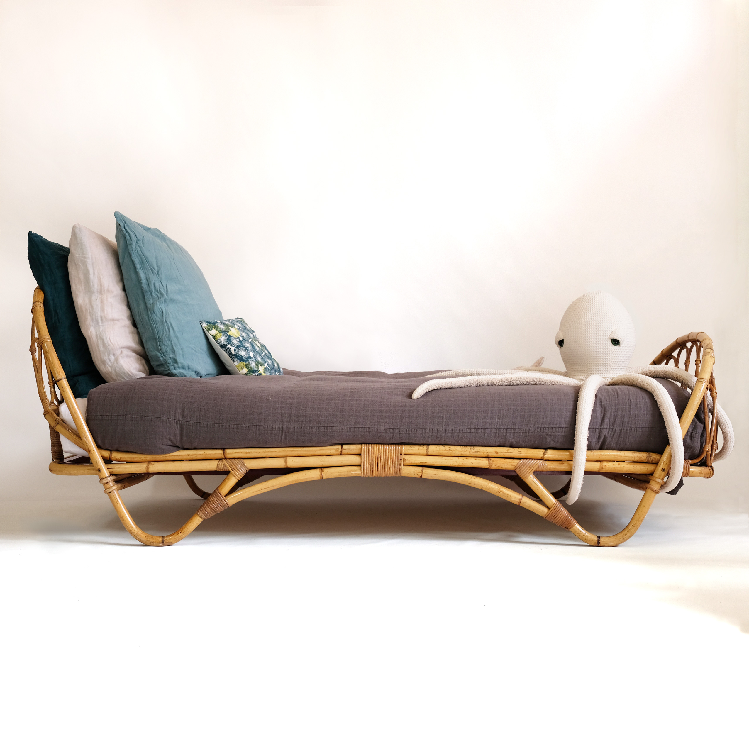 French rattan bed