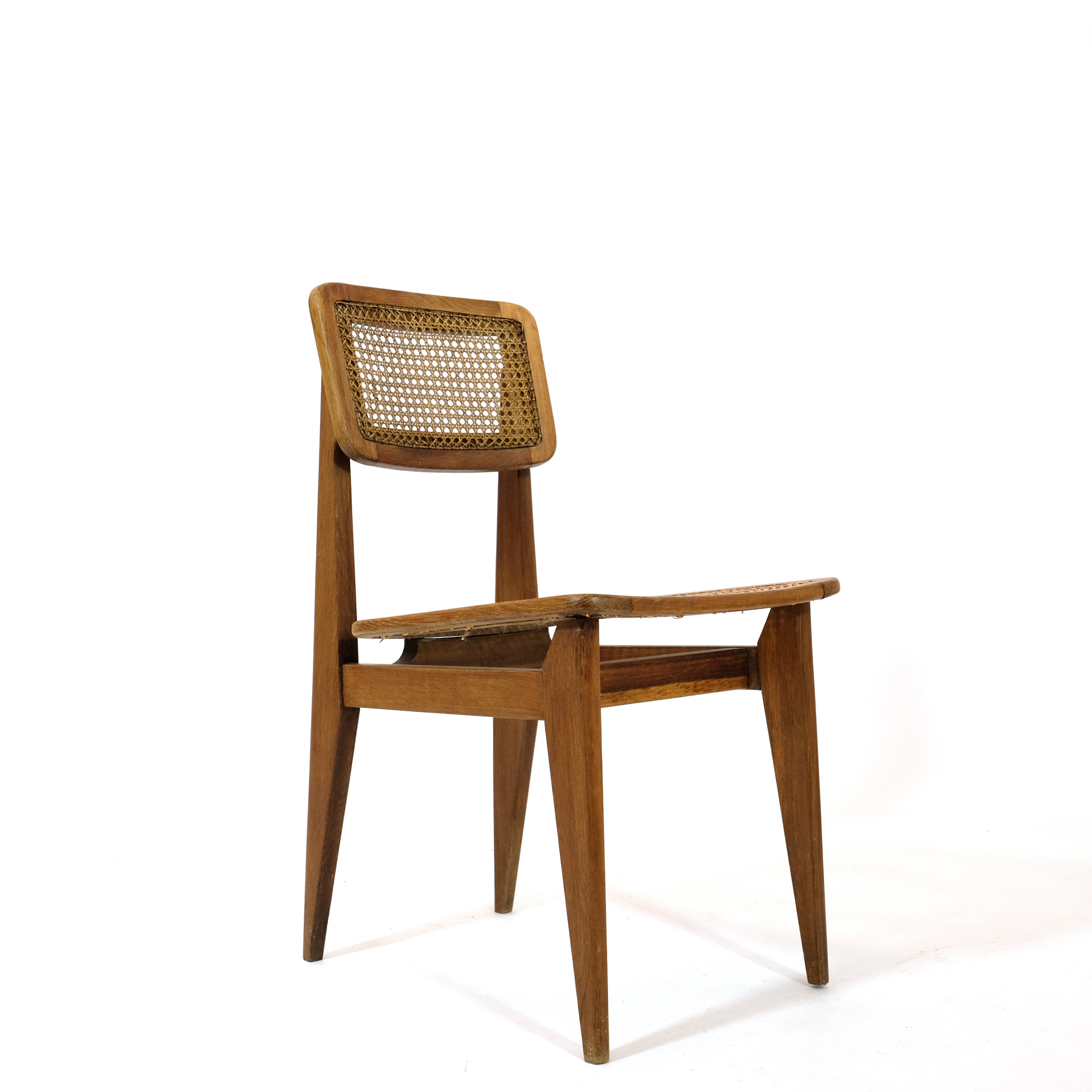 C cane chair, Marcel Gascoin,ARHEC, 1950's.