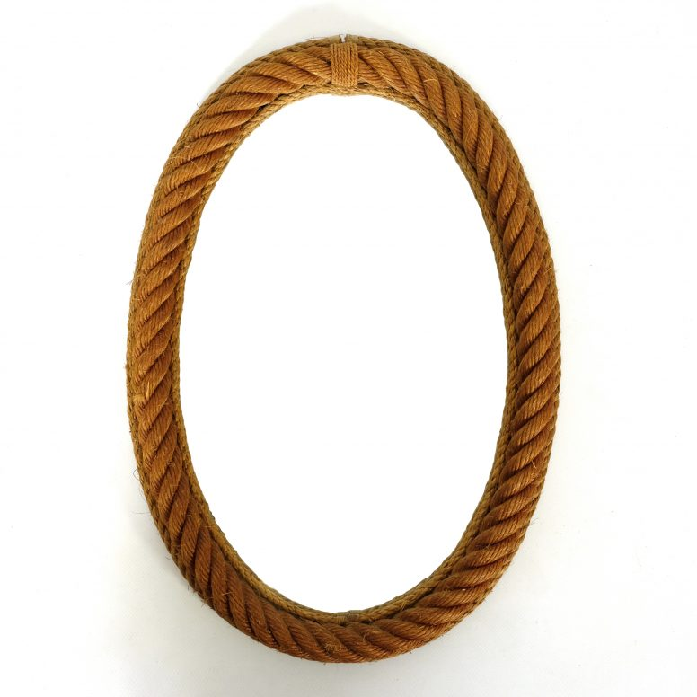 Oval shaped mirror, 50x35 cm, 1950s.