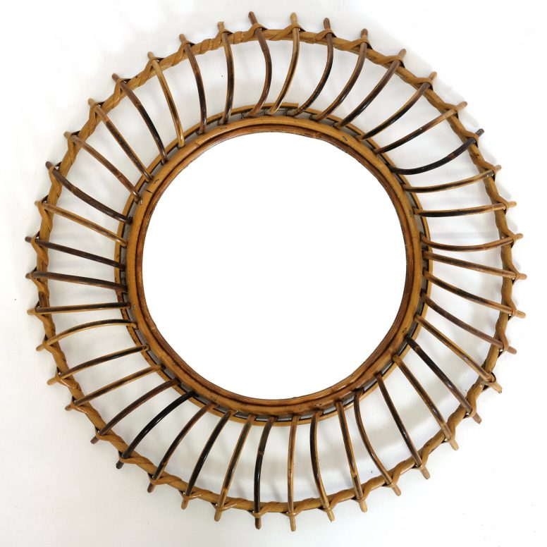 Rattan mirror from the sixties.
