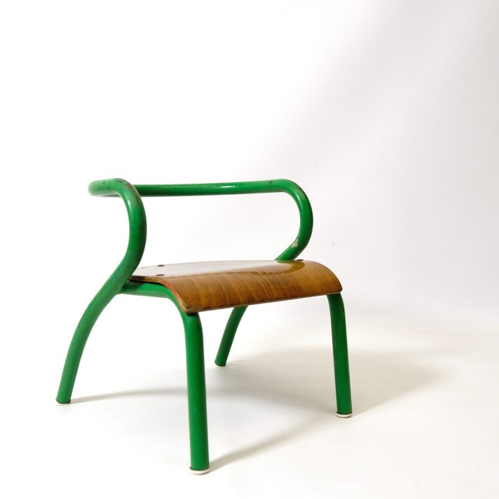 Child's chairs designed by Jacques Hitier for Mobilor in the fourties.