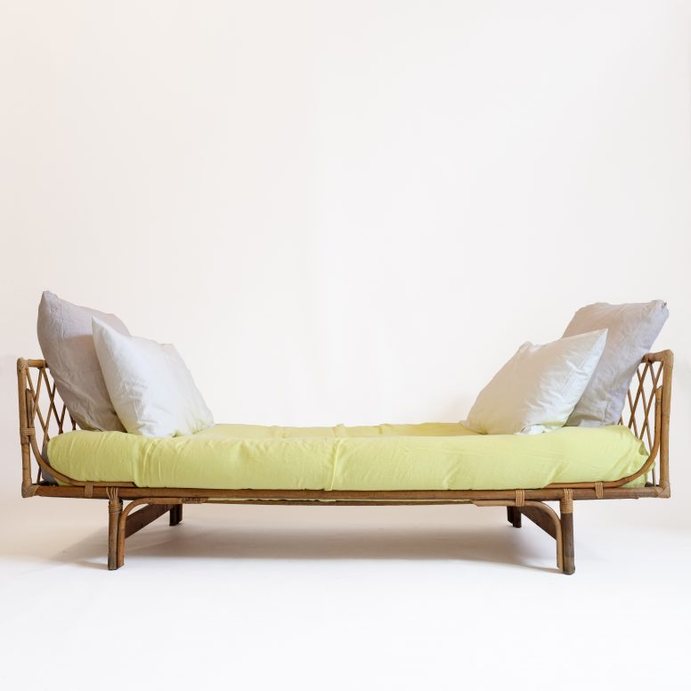 French rattan bed produced in the sixties.