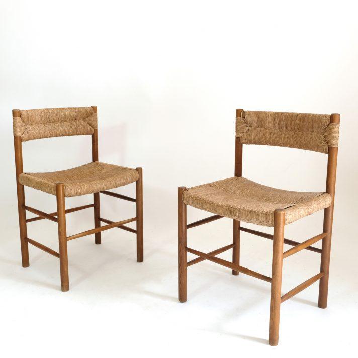 Paire de chaises Dordogne, Sentou, 1950s.