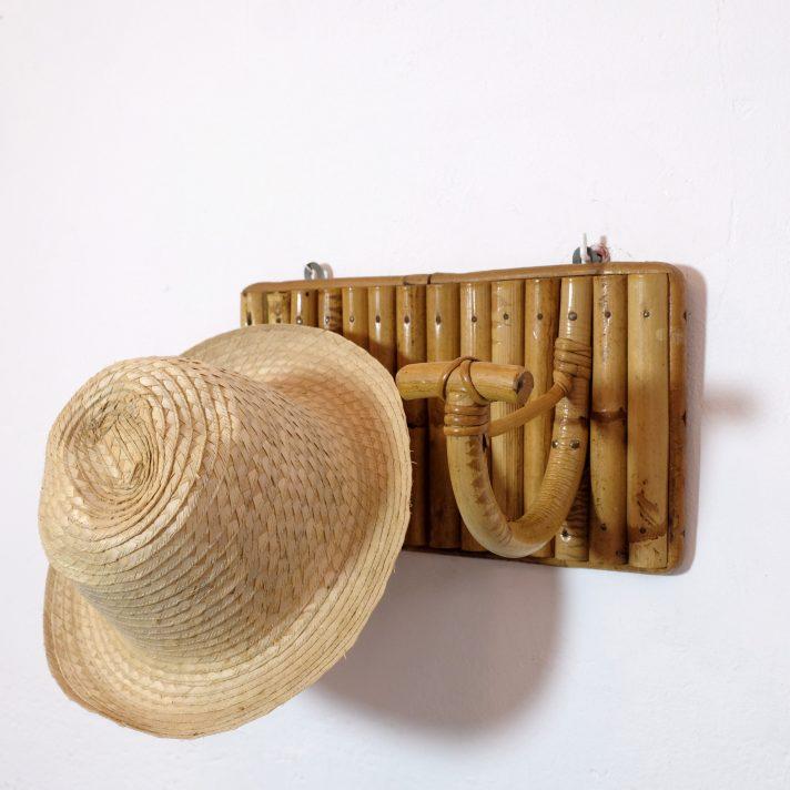 Vintage bamboo coat rack, 1960s-1970s.