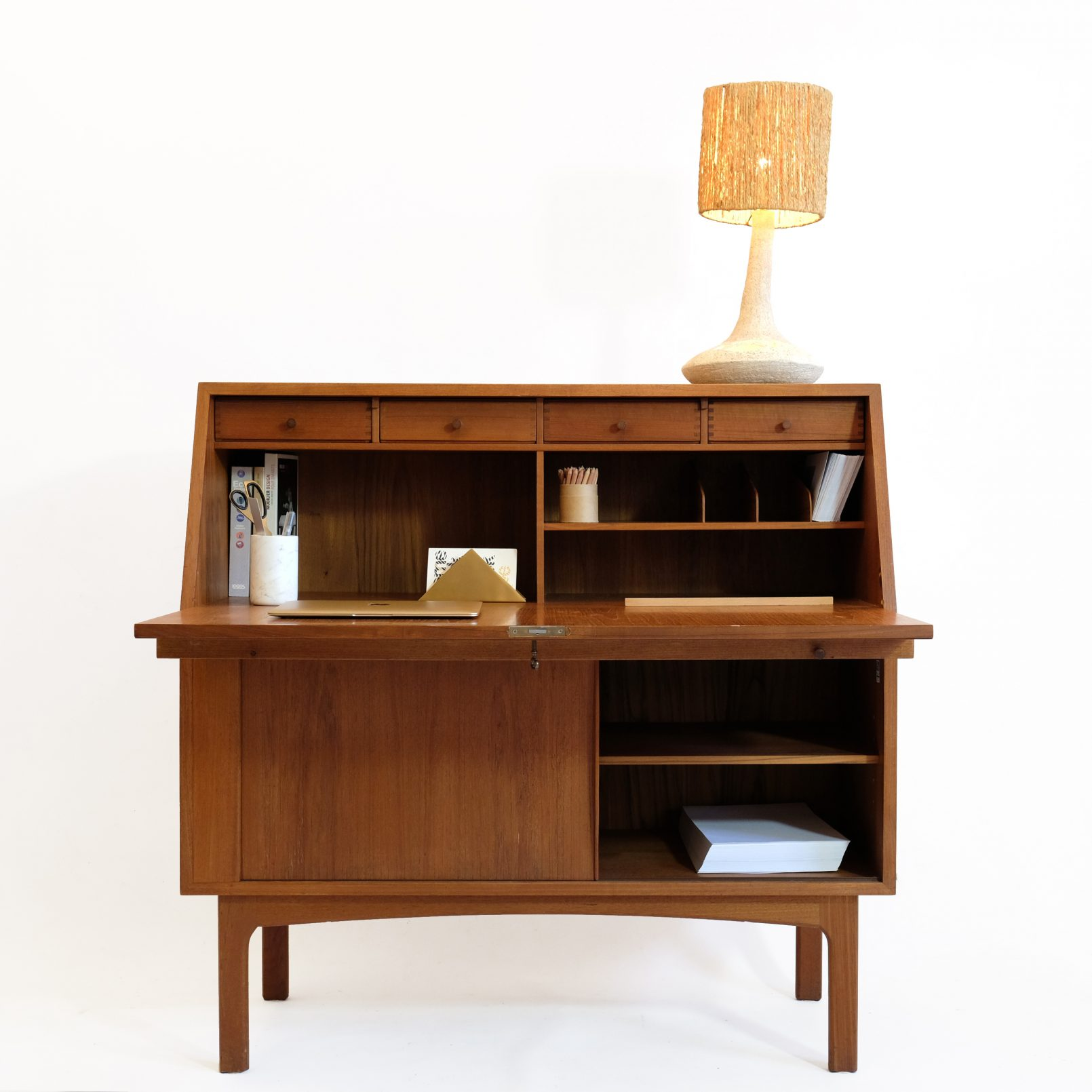 Clever Danish writing desk from the sixties.