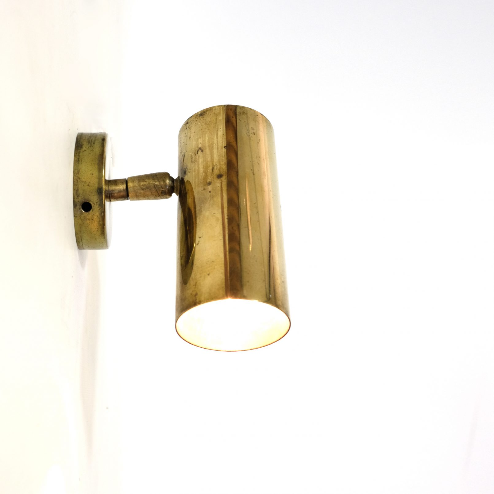 French little brass wall lamp.