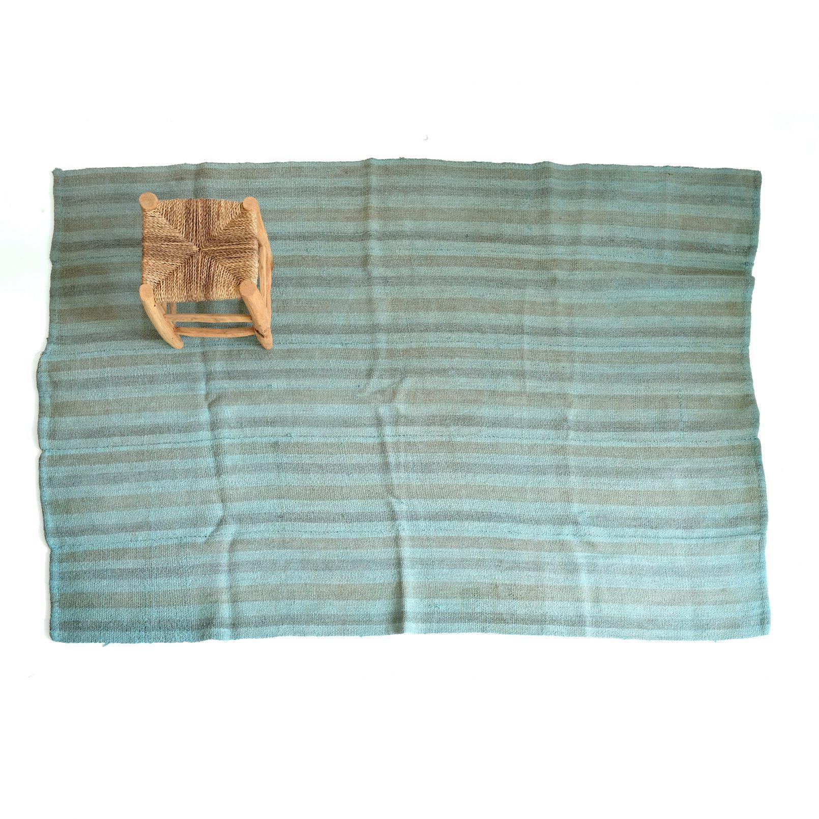 Turkish blue rug, 150 x 195 cm.