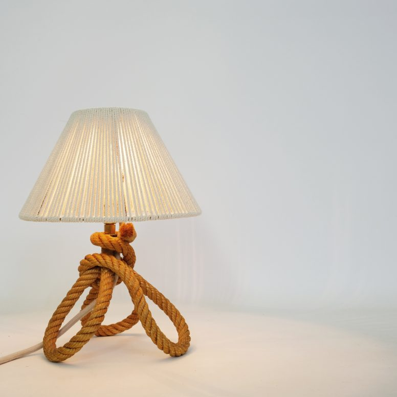 Little rope lamp from the 1950s-1960s.
