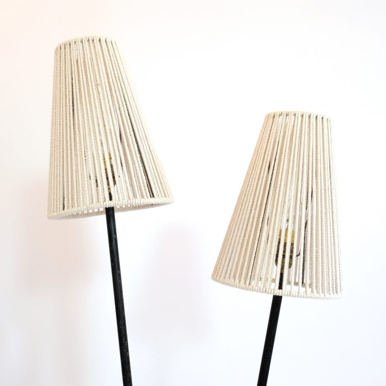 Elegant floor lamp from the 1960s-1970s.