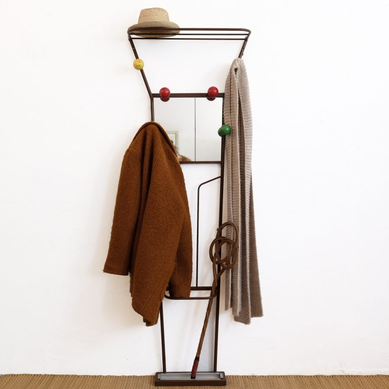 Large coat hanger and hat rack from the 1960s-1970s.