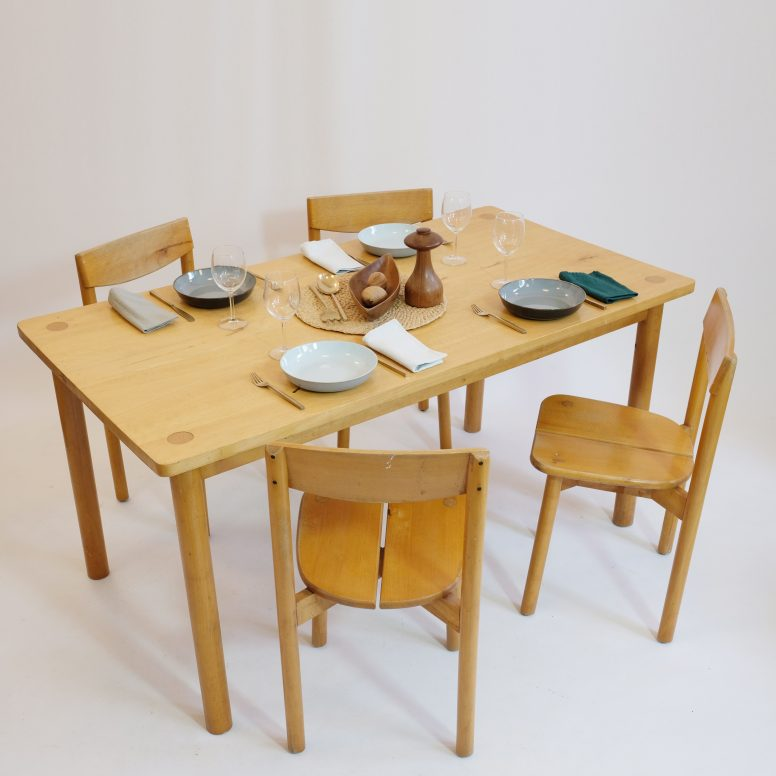 Table à manger de Pierre Gautier Delaye, France, 1950s.