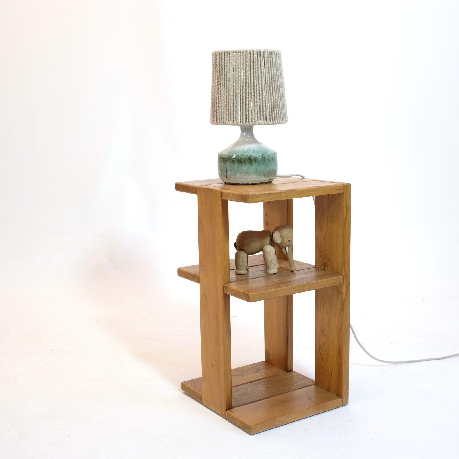 Elm side table produced by Regain in the seventies.