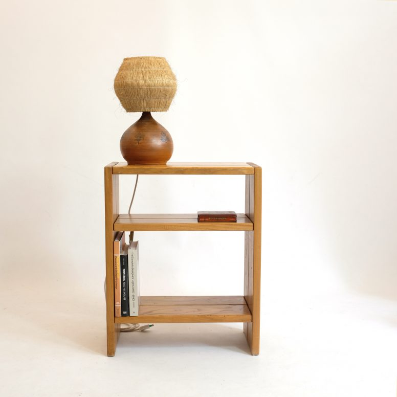 Side table and shelf produced by Regain, 1970s.