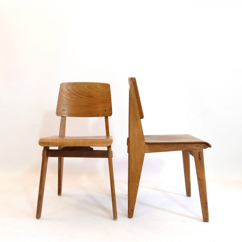 Standard chair «Tout bois» by Jean Prouvé, 1941.