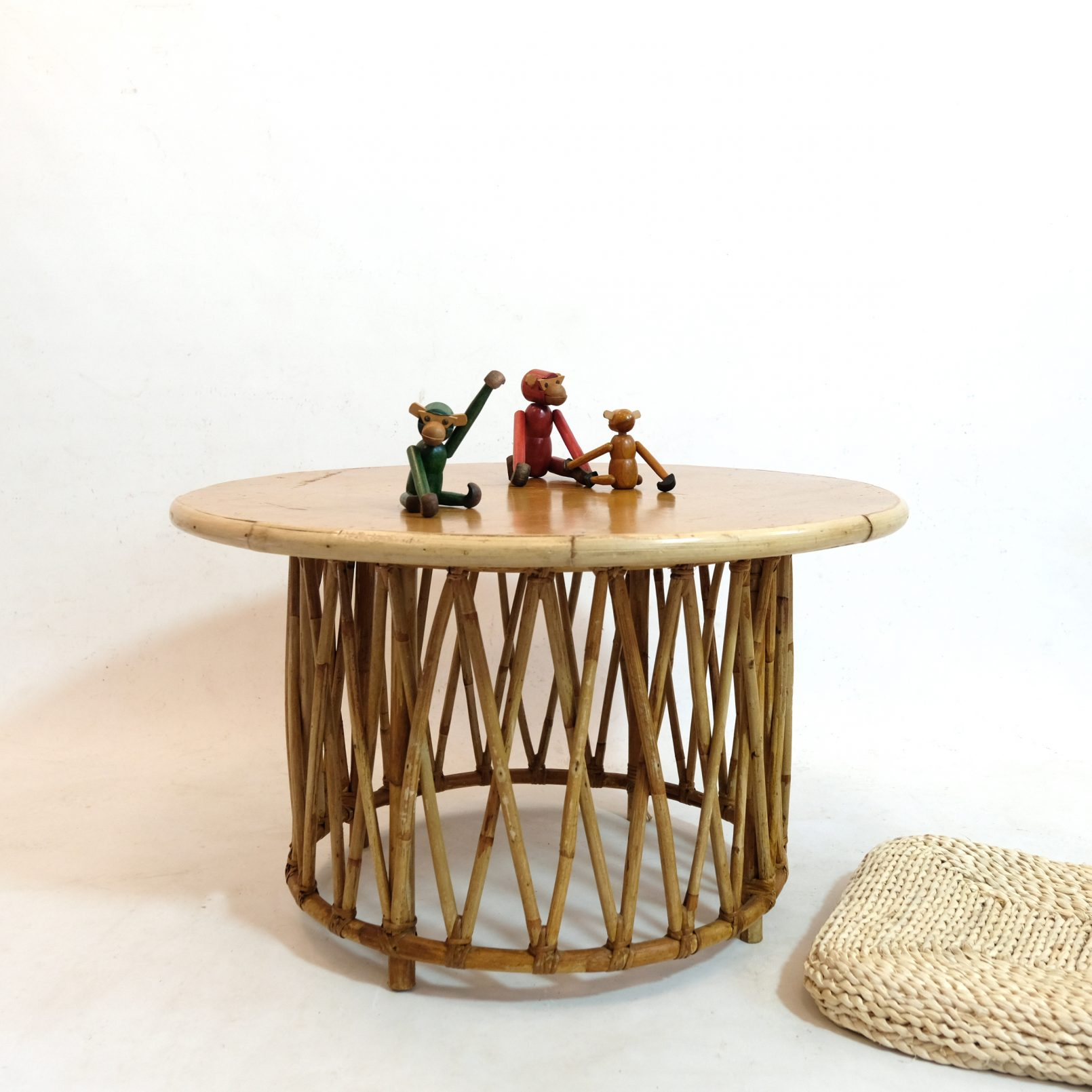 French rattan coffee table from the sixties.