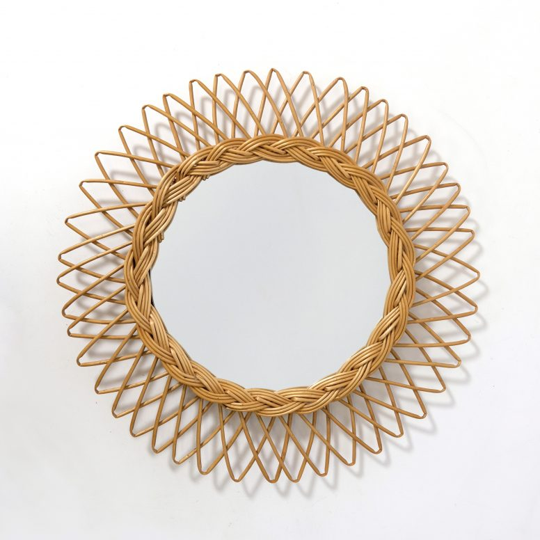 French sun shaped mirror, 44cm.