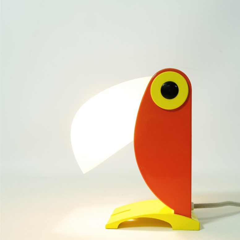Lampe Toucan orange par Old Timer Ferrari, Italie, 1960s.