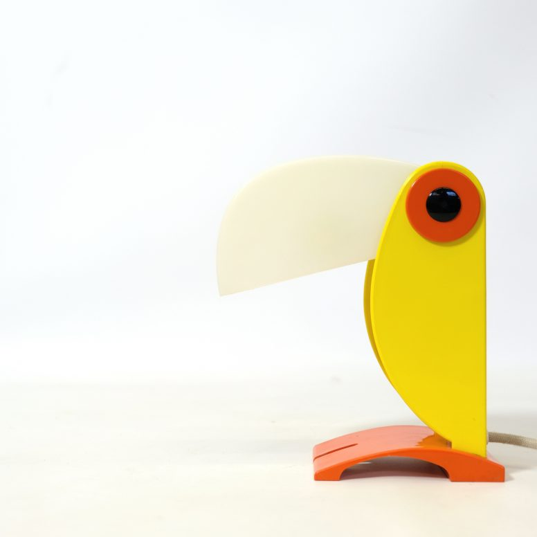 Yellow toucan lamp, Old Timer Ferrari, 1960s.