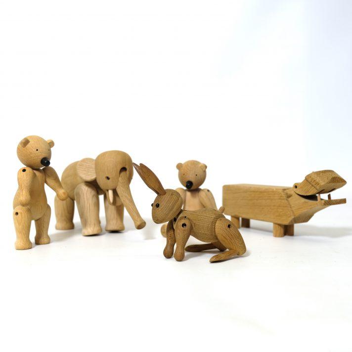 Wooden animal figure by Kay Bojesen.