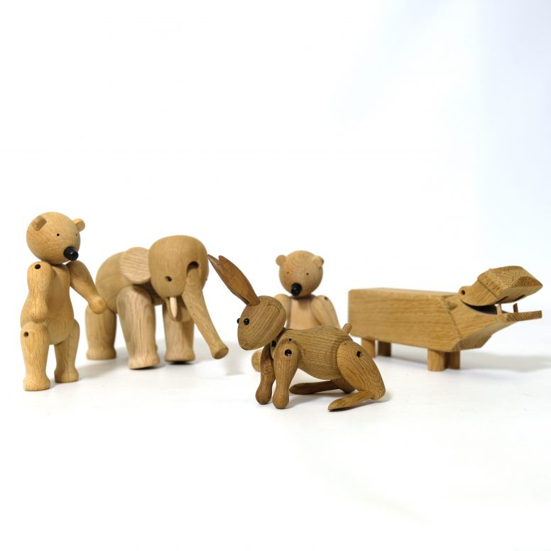 Wooden animal figure by Kay Bojesen.