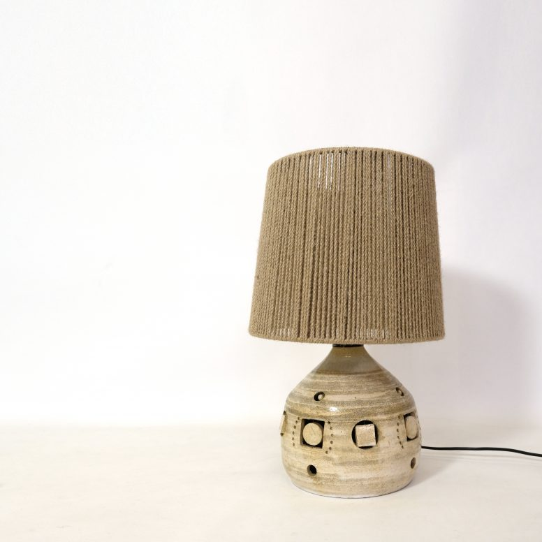 Georges Pelletier, ceramic table lamp, 1960-1970.