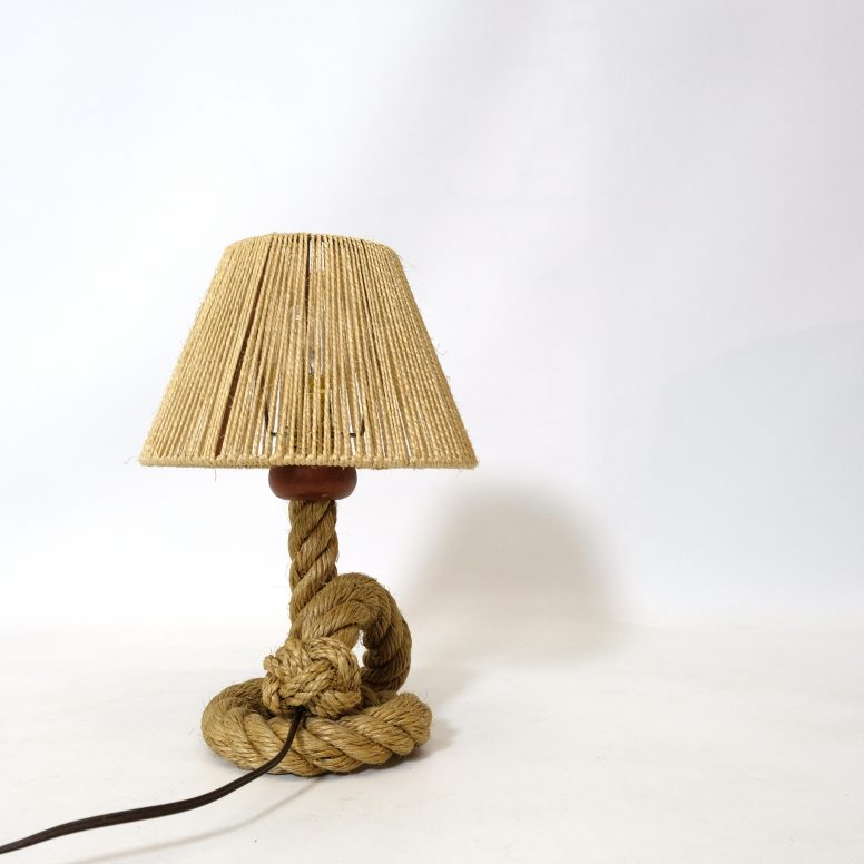 Rope table lamp, France, 1940-1950.