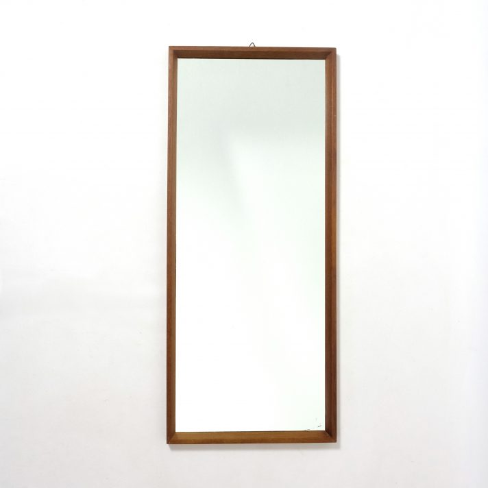 Grand miroir scandinave, 1960s, 74x32cm.