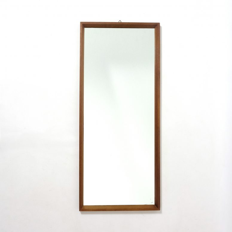 Large scandinavian mirror, 1960s, 74x32cm.