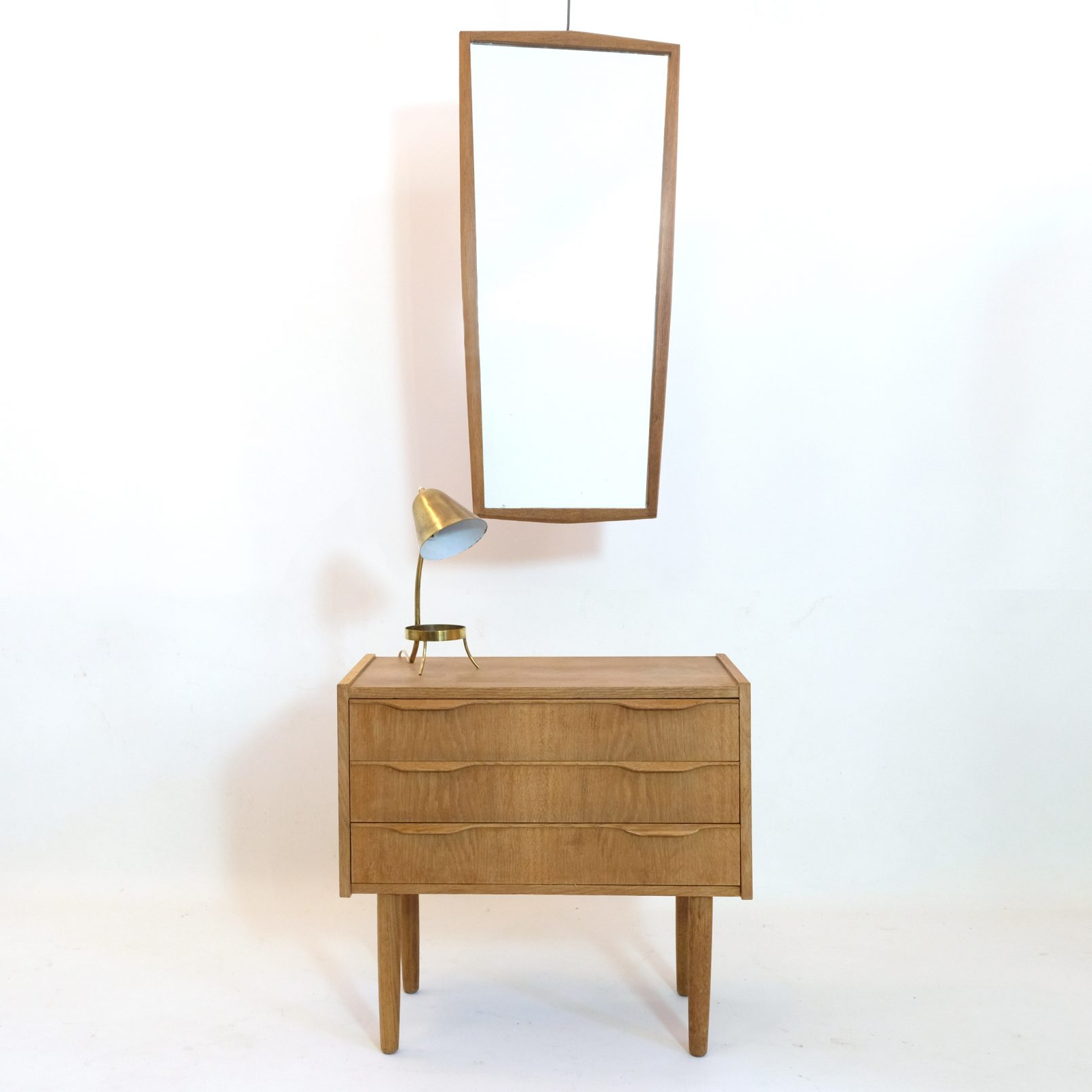 Little chest of drawers and mirror, 1960s.