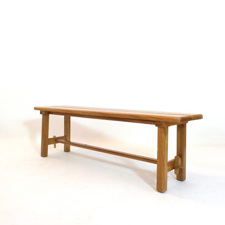 Three seaters bench attributed to Maison Regain, 1970s.
