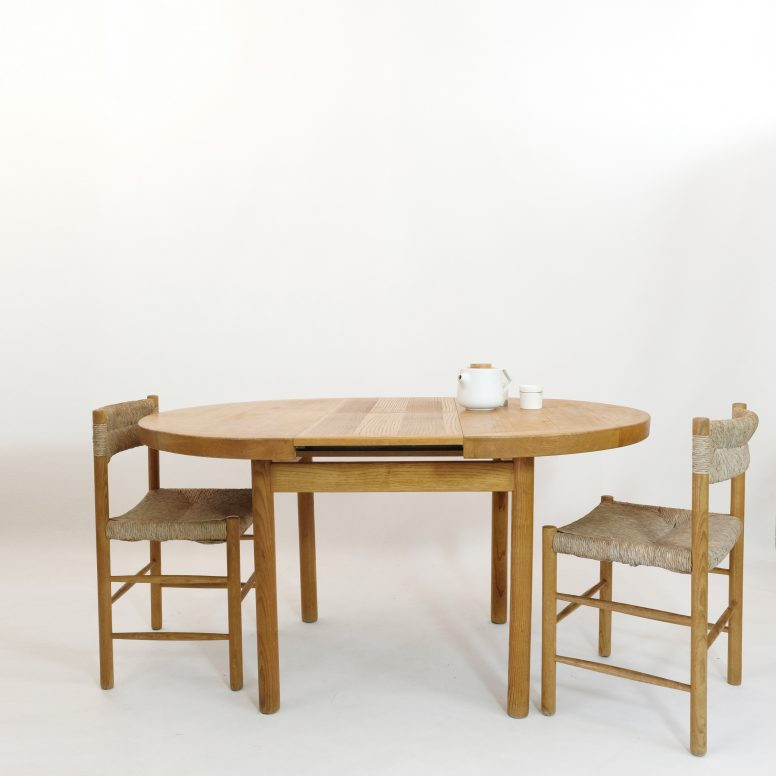 Table Dordogne à rallonge, Sentou, 1950s.