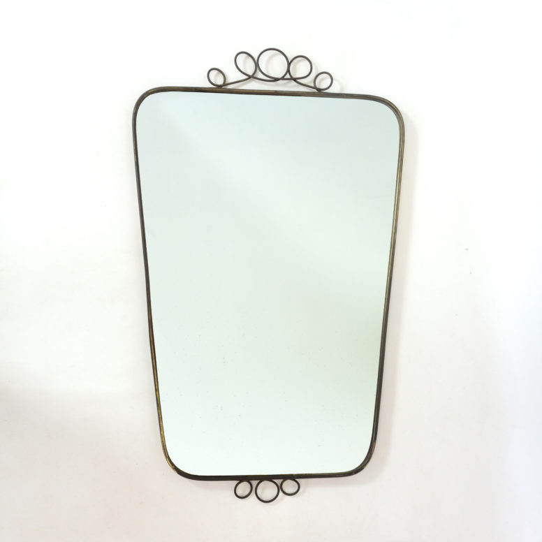 Large italian mirror from the fifties, 84x51 cm.