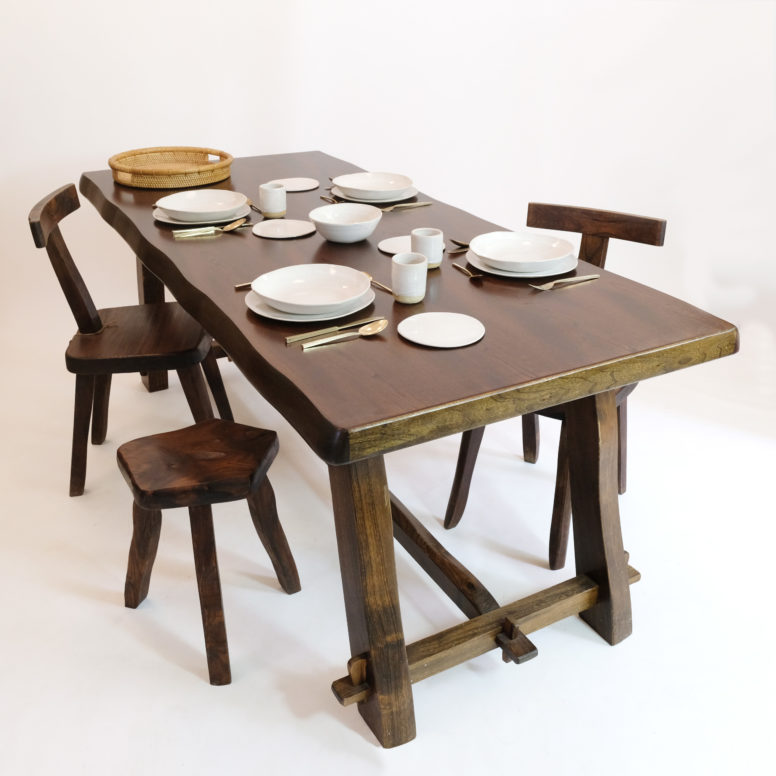 Large dining table attributed to Olavi Hanninen.