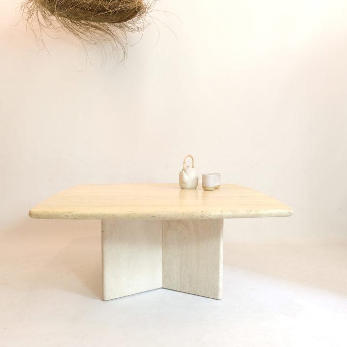 Travertine coffee table, Italy, 1970s.